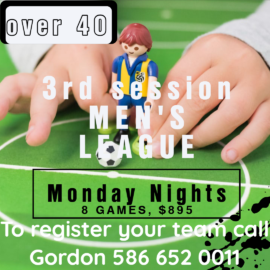 Over 40 Men's Soccer League #3